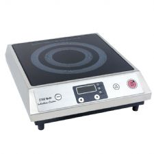 Commercial Quality Stainless Steel 2.7KW Induction Cooker with a 12 month commercial use guarantee